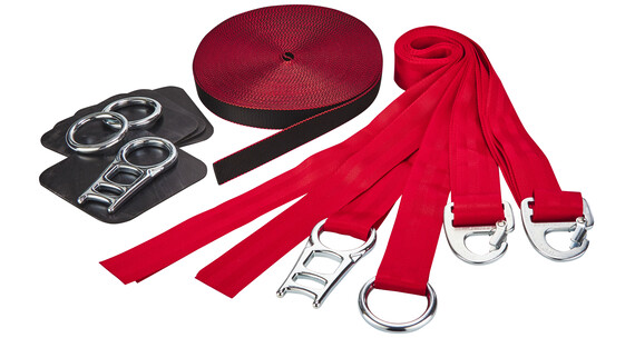 Slackline-Tools Soft'n Slack Set Slackline 18 m rød